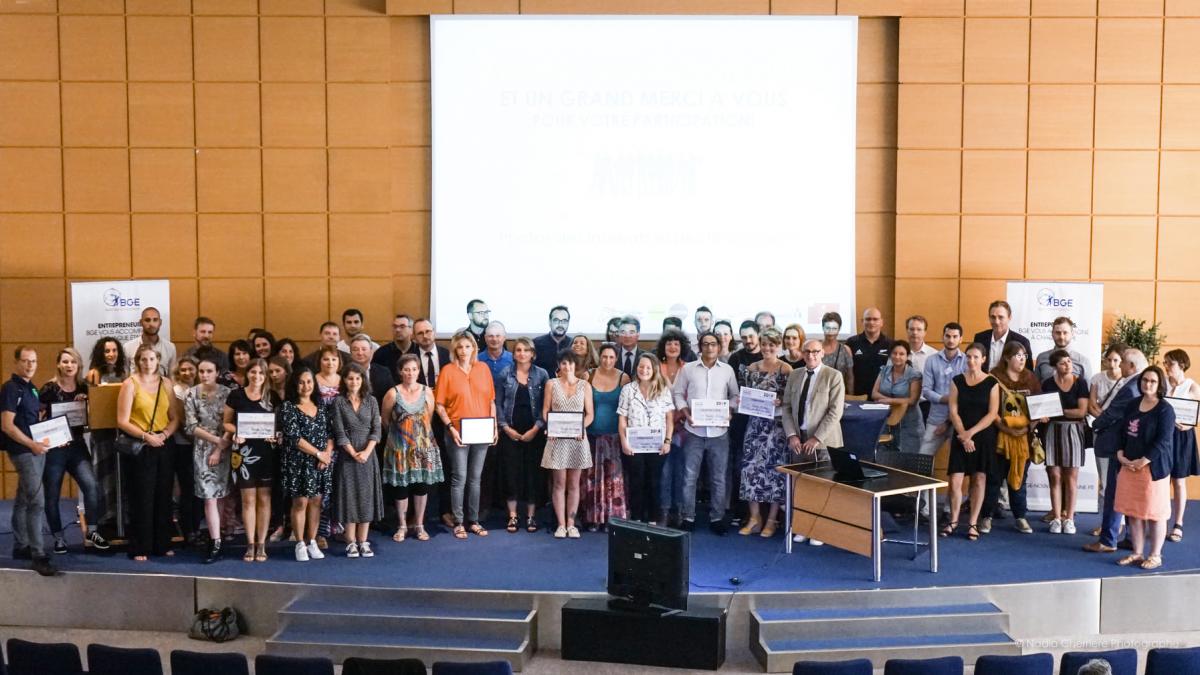 Photo des Lauréats du Concours Talents BGE Nouvelle Aquitaine